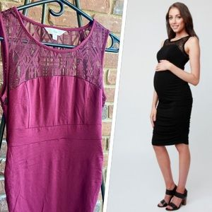 Ripe Maternity Lace Cocoon Dress